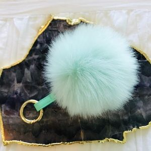 2 for $10 Faux Fur Keychain Pouf 🐰Vegan🐰
